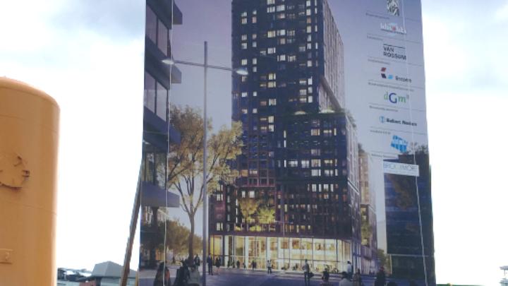 Afbeelding bij Op 13 en 14 februari 2019 is de fundering van de Galaxy Tower gestort
